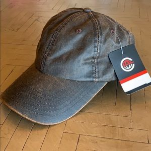 Other - Black & Tan Distressed Baseball Cap Hat NWT Cotton